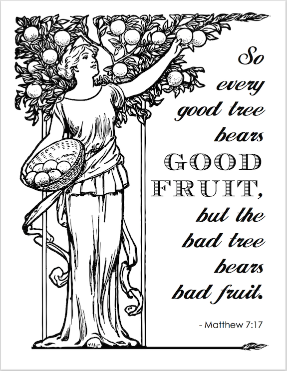 Bearing Good Fruit (Coloring Page)