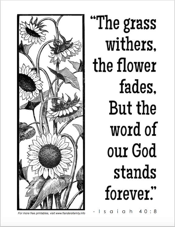 faded flowers and withered grass coloring page flanders family - Isaiah 64 8 Coloring Page