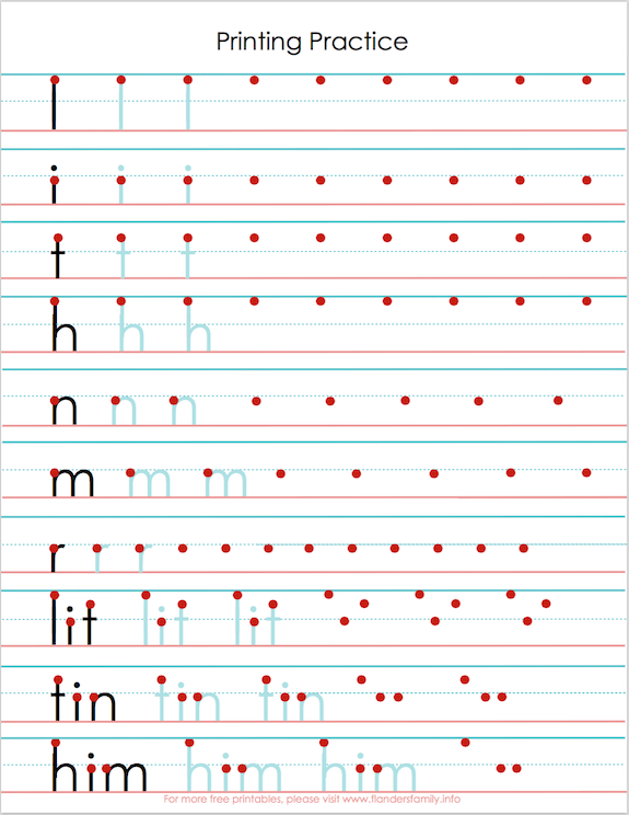 free printing practice sheets to help with letter reversals from wwwflandersfamilyinfo