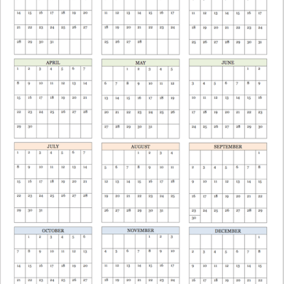 2018 Calendars for Advanced Planning