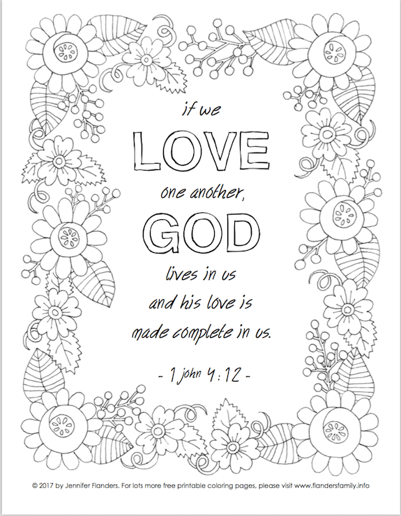 free scripture based coloring pages from wwwflandersfamilyinfo - God Is Love Coloring Page