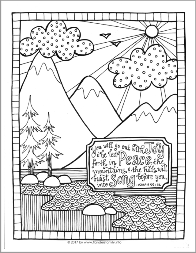 Go Out with Joy (Coloring Page) - Flanders Family Homelife