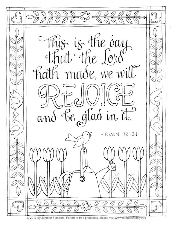 Rejoice and Be Glad (Coloring Page)