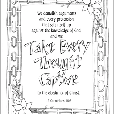 Take Every Thought Captive (Coloring Page)