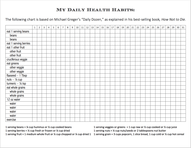 My Daily Health Habits | free printable from www.fllandersfamily.info