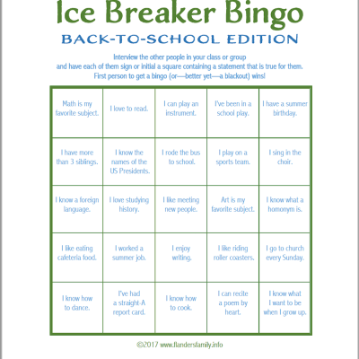Trust image with regard to back to school bingo printable