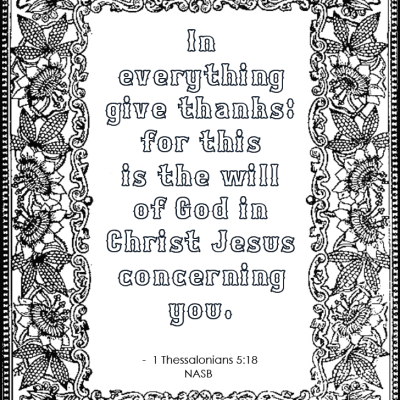 In Everything Give Thanks (Coloring Page)