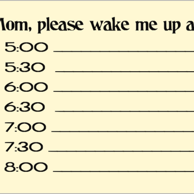 Q&A: Mom, Will You Wake Me Up?