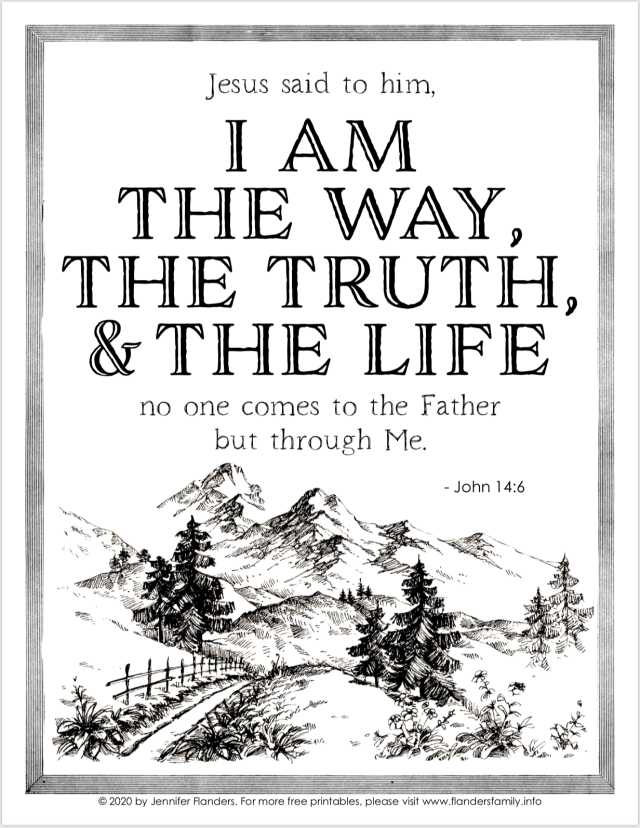 I AM the Way Coloring Page - Flanders Family Homelife