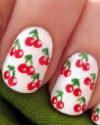 1 Sheet Fruit Strawberry Cherry Nail Art Water Decals Color Painting Transfer Sticker C036 039