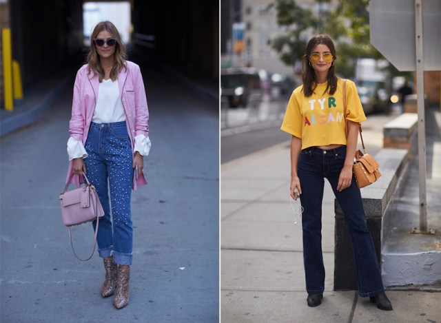 Denim fit guide: cropped and flared jeans.