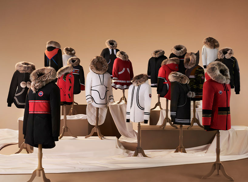 A group of parkas from the canada goose project atigi collection