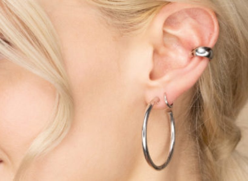 Silver Tube Hoops by Mejuri