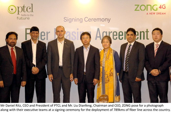 Zong & PTCL Group Pic