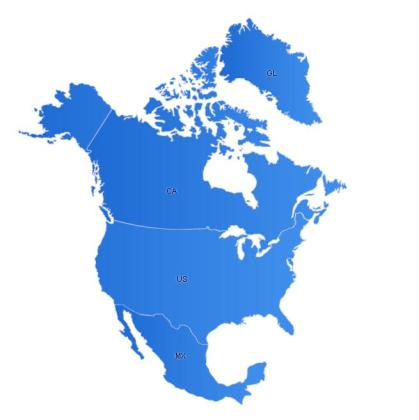 NorthAmerica Maps   Free Flash Map  Driven by XML  Full Customized     NorthAmerica Flash Map WOCentral