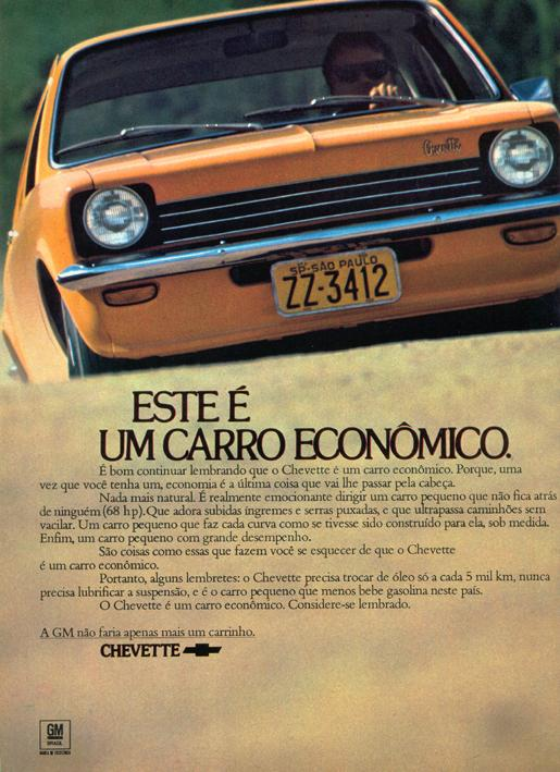 Chevette 1974.