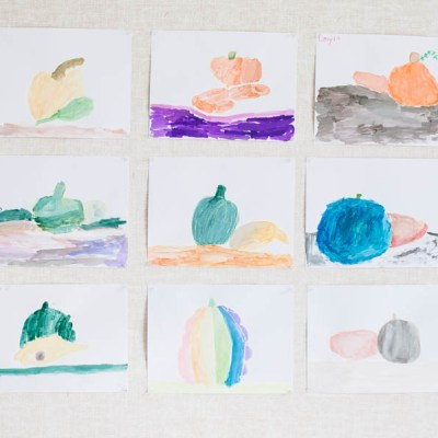 Make These Beautiful Gourd Paintings For Thanksgiving