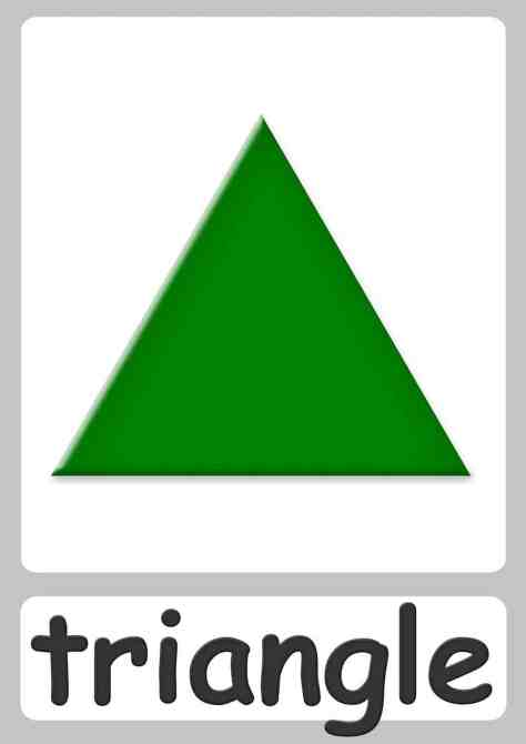 Shape Flashcards Triangle on verbs in kindergarten