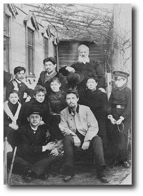 Perhaps the Chekhov family was the inspiration for this story. This picture was taken in 1890. Anton is in the front row, wearing a white jacket. Artwork: public domain, coming to us courtesy of .
