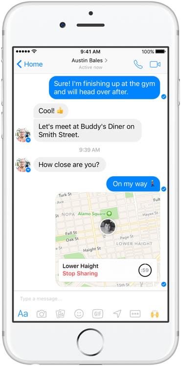 ผลการค้นหารูปภาพสำหรับ Facebook Messenger ออกฟีเจอร์ใหม่ Live Location