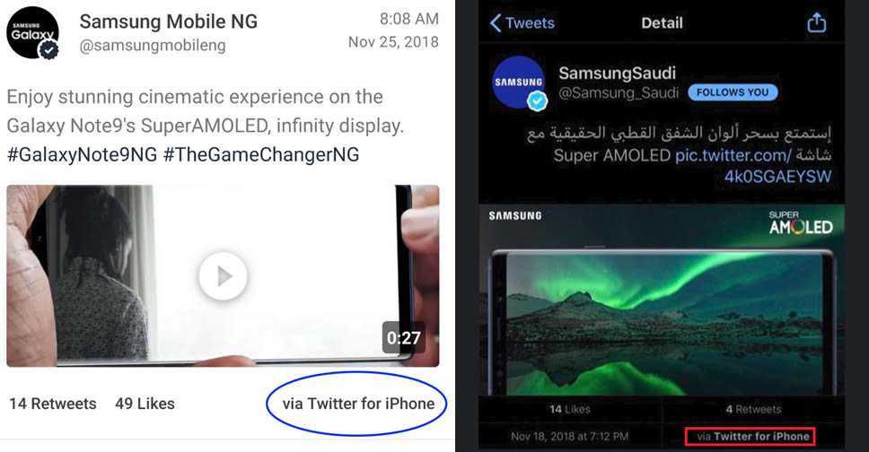 Image result for Samsung post with iphone on twitter