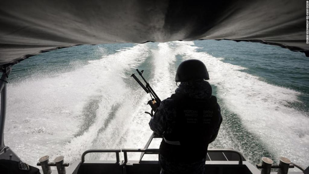 On board a small Ukrainian patrol boat challenging Russian naval might