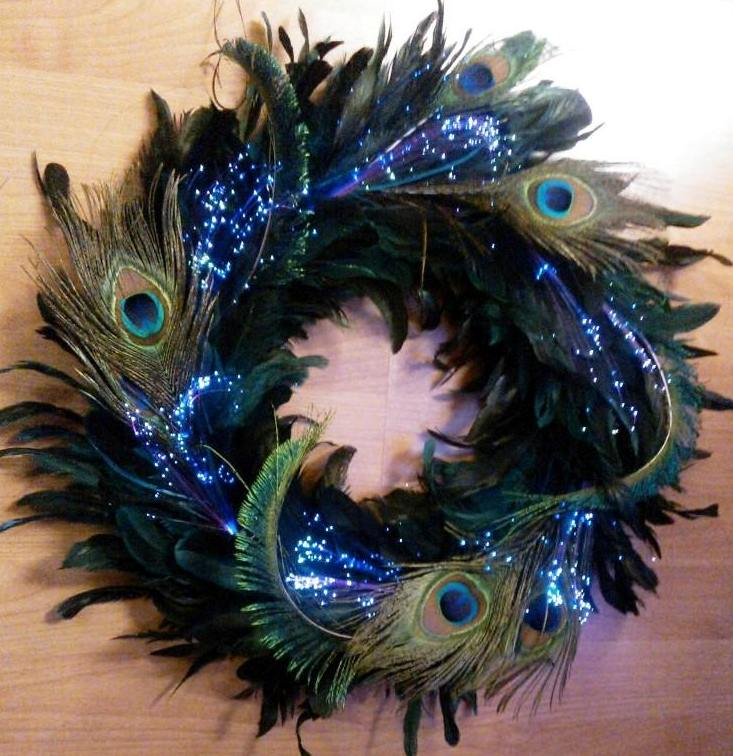 Led craft time add fiber optic hair clips to a wreath for Clip lights for crafts