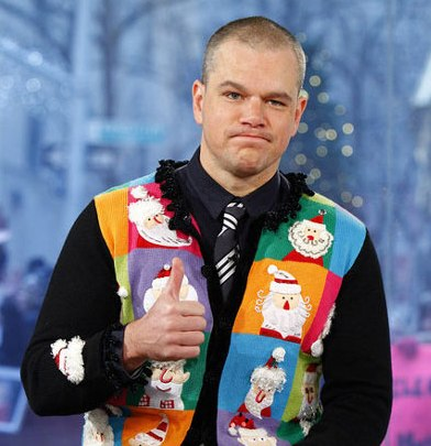 matt-damon-ugly-christmas-sweater