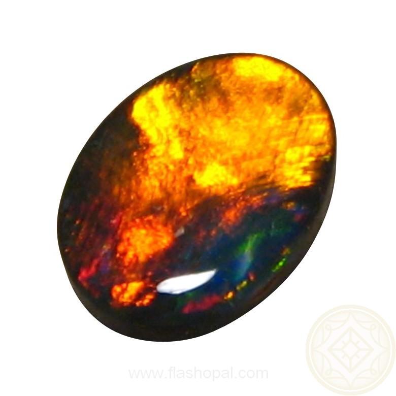 Loose Black Opal Red Orange Oval Black Opal For Sale