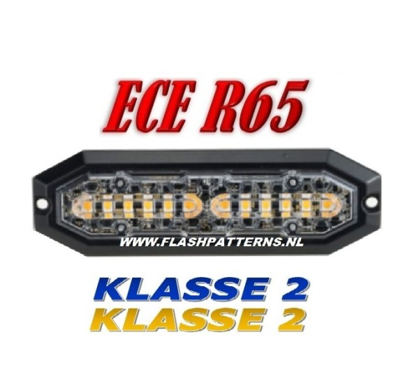 Superbee LED Flitser klasse-2, 12 X 3 Watt Power Leds R65 12/24V , Super Fel !!!