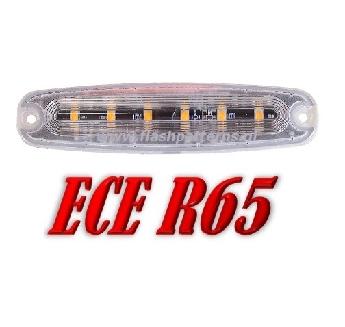 ECO-R6 Led Strobe flitser ECER65 12-24V Super Plat Aanbieding ! in Blauw of Amber
