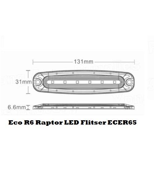 Eco R6Raptor LED Flitser ECER65 SIZE
