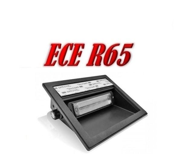 Pro R6 LED Dash Flitser ECER65 12/24V 6 x 5 Watt Amber of Blauw