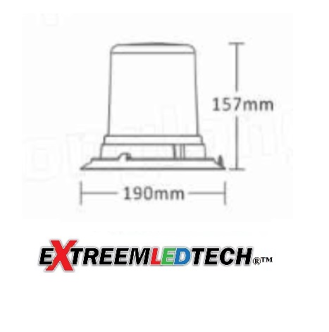 Extreem Chalenger dual color Beacon R65 size magnet mount