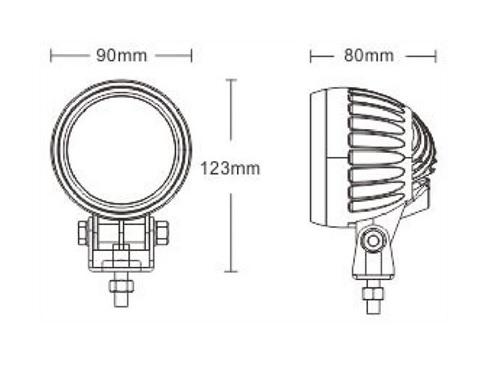 Heftruck LED Blauw Pijl - Blue Arrow - Veiligheids spot 9-80V afm