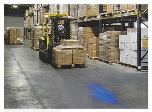 Blauw pijl veiligheids werk lamp