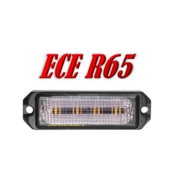 R4 Led Flitser ECER65 4 x 5 Watt Super Fel Amber 12/24V