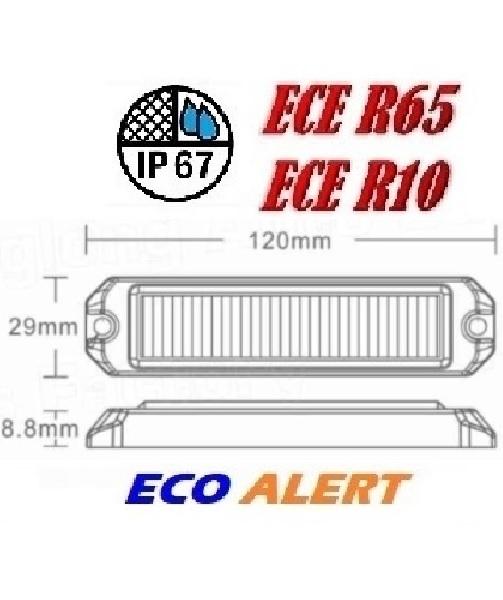 ECO ALERT 3x 3-5w Led Flitser ECER65 HOOG INTENSITEIT LEDS amber sku1060 size 2
