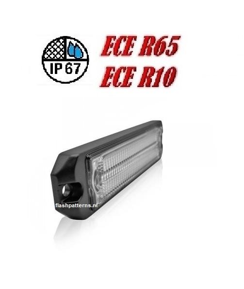 R6 5w Leds Flitser ECER65 HOOG INTENSITEIT LEDS sku1060 slant