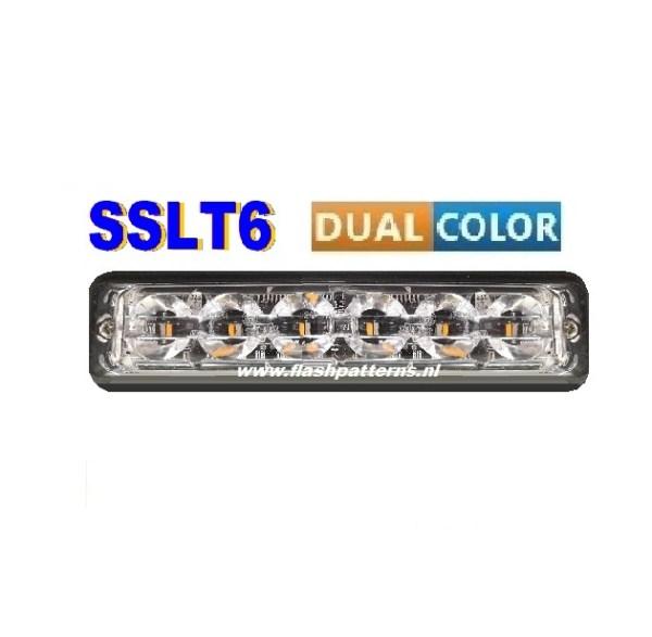 SSLT6-dual-color-led-flitser-BLAUW-AMBER