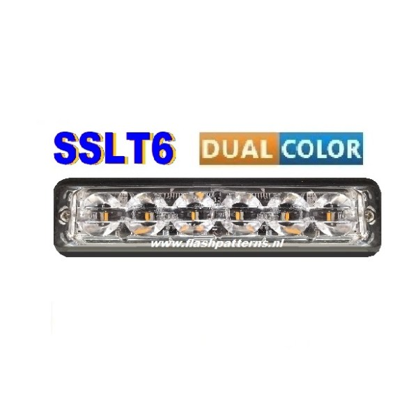 SSLT6-dual-color-led-flitser-BLAUW-AMBER
