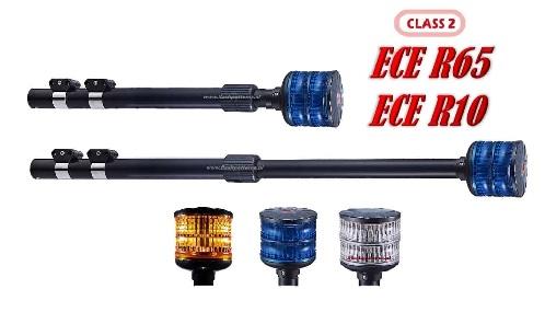 MCX-DL Pro ECER65 ECER10 LED MOTOR Zwaailamp 12/24V Blauw of Amber Klasse II