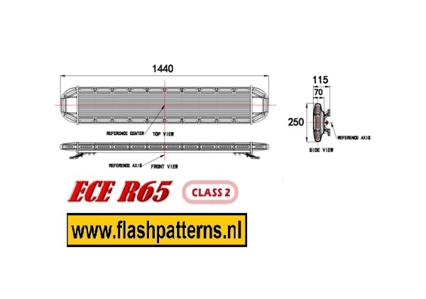 matrix insight 1440mm R65 afmetingen flashpatterns Nederland