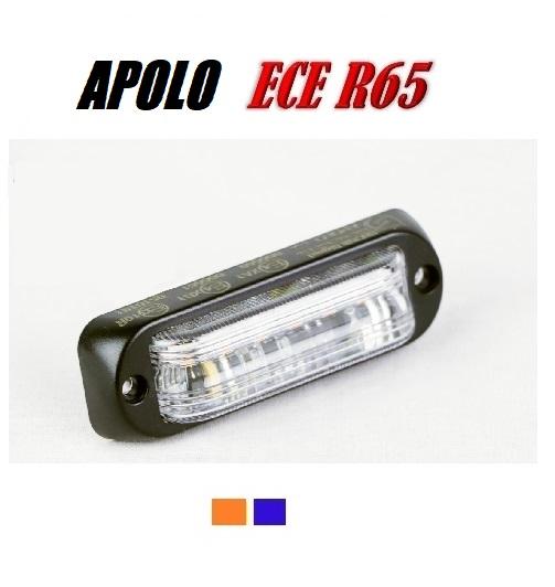 Apolo 6 LED Flitser ECER65 6 x 3 watt 12/24V