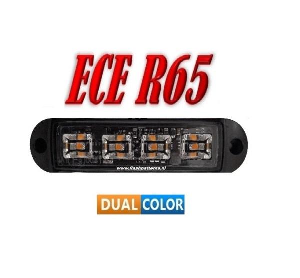 C4 COBRA LED Flitser Dual Colour ECER65 Hoog Intensiteit leds Amber/Blauw of Blauw/Wit