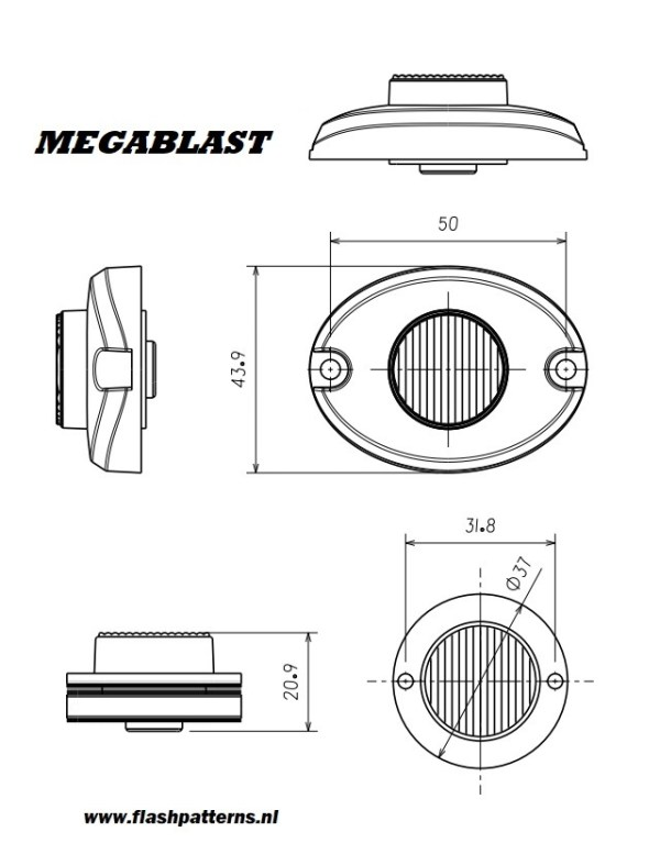 megablast led flitser R65 SIZES