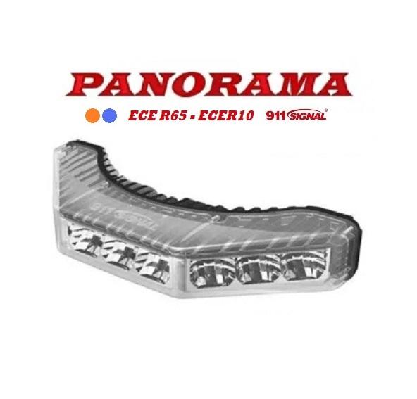 911 Signal PANORAMA Top Kwaliteit LED Flitser ECER65 klasse 2 12/24 Volt 5 Jaar Garantie.