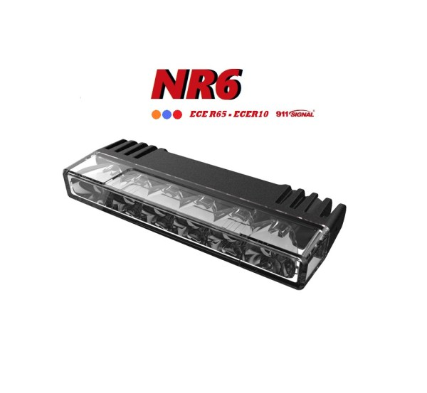 911 Signal NR6 Top Kwaliteit Led Flitser Blauw, Rood of Amber ECER65 Klasse 1&2 12/24 Volt 5 Jaar Garantie