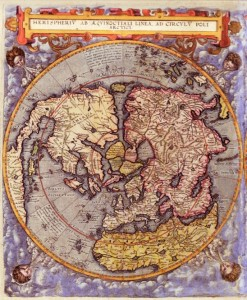 Flat earth gallery ii aplanetruthfo 1593 gerard dejode polar map gumiabroncs Image collections