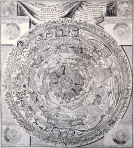 Antique Maps of the World Celestial Map Antonio Saliba c 1603